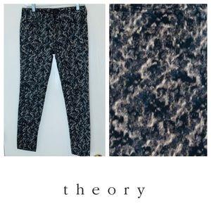 Theory Modern Print Skinny Jeans. Size 4